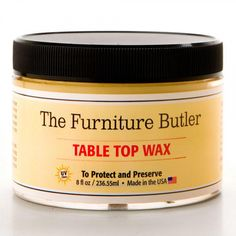 Metal and Wood Table Top Wax - 8 oz. - Kitchen and Bath Cleaners - Bathroom Accessories - Bathroom Bath Cleaners, Butler Table, Copper Vessel Sinks, Furniture Wax, Rustic Bathrooms, Reno, Kitchen And Bath, A Table, Chairs