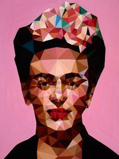 """Saatchi Online Artist Angie Jones; Painting, """"Ms. Kahlo"""" #art"""