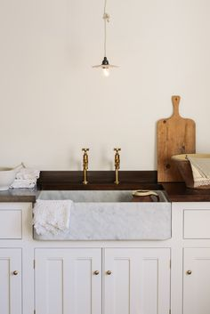 deVOL's Carrara marble sinks! Such a beautiful natural stone that feels expensive and special, perfect in every home.