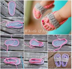 Crochet Baby Sandals - FREE Pattern