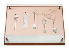 A project comprising five spoons by Lars Håkansson, Helena Lidholm, Erik Tidäng, Åsa Hellqvist; for 'Teskedsorden'. and Nutida Svenskt Silver, Stockholm 2012. The boxes desig.... - Contemporary, Stockholm 570 – Bukowskis