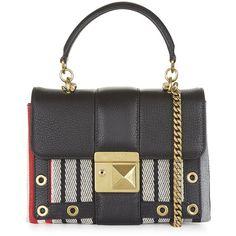 Sonia Rykiel Multi Stripe Leather Cross Body Bag featuring polyvore, women s  fashion, bags, 691833b006
