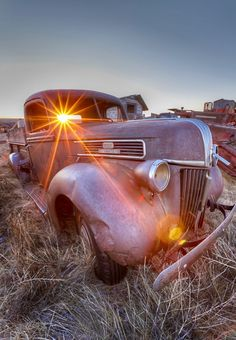 """""""Ghost Passenger"""" An old Ford truck at sunrise in Saskatchewan Canada. Ford Pickup Trucks, Chevy Trucks, Lifted Trucks, Lifted Ford, Ford Classic Cars, Classic Trucks, Vintage Trucks, Old Trucks, Rusty Cars"""