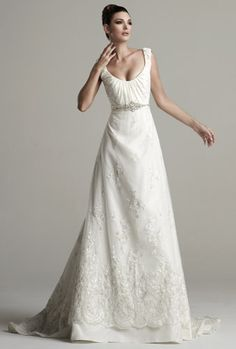 Classic a line tank style neckline wedding gown by Kitty Chen - Grace