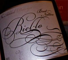 Biel-lo Cava from the Penedes... from Celler Puig Romeu, a Pinot Noir blend, would rival a good Champagne any day of the week! Lovely wine, lovely packaging, and a fab.winemaker, Jordi Gilly
