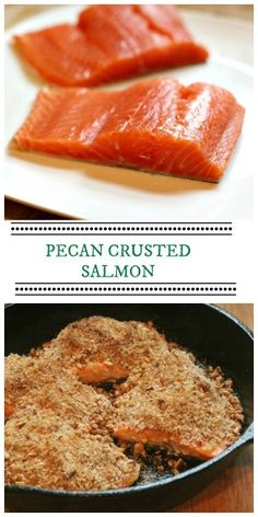 Pecan Crusted Steelhead Trout (or Salmon) recipe - super easy and so delicious.