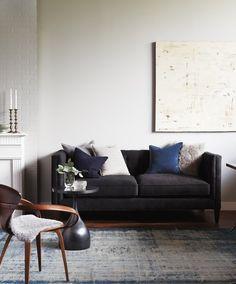 Cool Grey Living Room | photo Kim Jeffery |design Joel Bray | House & Home artwork by Karen Kawarsky