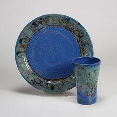 Stoneware Combo: Capri Blue Aurora Green dinnerware