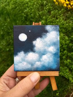 ein-personlicher-favorit-aus-meinem-etsy-shop-www-etsy-com-watercolor-art-a/ - The world's most private search engine Simple Canvas Paintings, Small Canvas Art, Easy Canvas Painting, Mini Canvas Art, Cute Paintings, Easy Canvas Art, Small Art, Diy Canvas, Drawing On Canvas