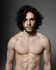 Jon Snow, as played by Kit Harrington, in a pleasing lack of clothes. BREAK YOUR VOWS WITH ME.