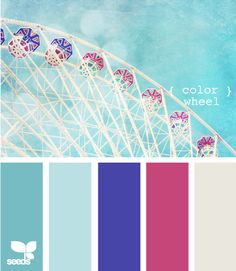 color wheel.  I do love fuschia with blues.  always have...