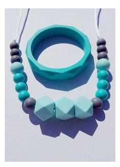 Lot bracelet et collier de dentition, portage, allaitement