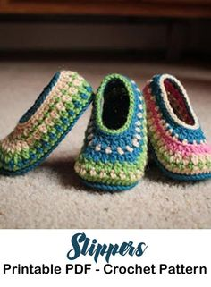 Make a cozy pair of Slippers. Slipper Crochet Patterns – Great Cozy Gift - A More Crafty Life #crochet #crochetpattern