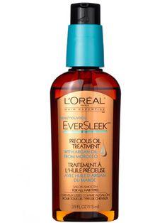 L'Oreal EverSleek Precious Oil Treatment with Argan Oil . Paula Begoun lists it in her best hair care products. #beautypedia #paulaschoice