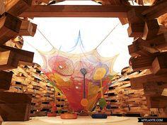 Interactive Crocheted Playgrounds // Toshiko Horiuchi-McAdam | Afflante.com