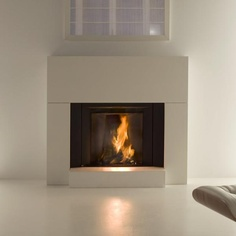 Stuv MicroMega with White Cladding from www.Guildfordstoves.com