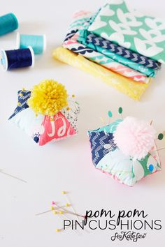 Hexagon Pom Pom Pincushion Tutorial | See Kate Sew