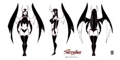 Model sheets Lith succubus by celaoxxx. ► get more @rohitanshu ◄