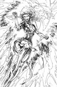 Jean Grey/Phoenix (X-Men) by Brett Booth 01/11/2014