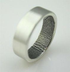 her finger print inside your wedding ring.