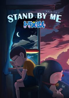 Doraemon, Stand By Me on Behance Cute Love Pictures, Love Photos, Sad Wallpaper, Disney Wallpaper, Doraemon Stand By Me, Doremon Cartoon, Hp Movies, Doraemon Wallpapers, Recent Movies