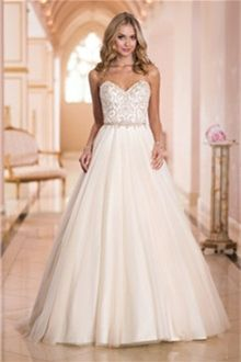 Linha-A/Princesa Sem Alça Coração Cauda Corte Renda Vestidos de Noiva