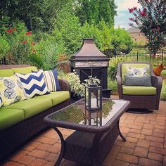 For this week's #moveitupmonday, hosted by Sheana @smalltowngirllife, I'm sharing my back patio! Porches  and patios are also being featured for this week's #theighomeproject! Since my back patio is currently yellow from pollen, and the trees aren't green just yet, I'm sharing a photo from last year. I'm looking forward to having my colorful patio back again!  Would Taylor @taylermade611 and Kirsten @settling_on30 care to share for either of these tags? #patio #patioseason #patiodecor…