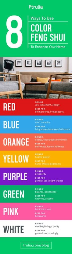8 Reasons To Use Color Feng Shui To Enhance Your Home – Life At Home – Trulia…