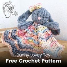 Bunny Lovey Toy Free Crochet Pattern #crochet #crafts #toy #child #homedecor