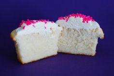 Prachtig witte cupcakes, een absoluut klassiek Amerikaans recept