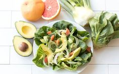 Everything you need for a local, delicious Avocado Citrus Little Gem Salad.
