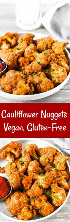 Cauliflower Nuggets (Vegan, Gluten-Free)