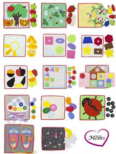 Children need to exercise their hands and minds often. Books are wonderful, toys are great; but what if you could create a collection of unique experiences for your child? You can, with a quiet tablets! The price is indicated for one developing tablet. There are 56 kinds of pages available