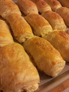 Puff Pastry with sweet cream cheese filling