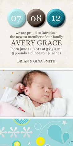 Dream Baby Photo Announcement