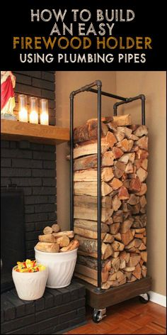 Need a storage for your firewood? Build a rustic fire wood holder from plumbing pipes. It's easy!