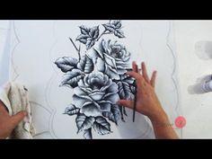 Rosas em Preto e Branco em Emborrachado (Aula 74) - YouTube