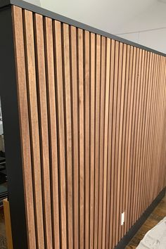 Single Storey Extension, Trim Board, Accent Walls In Living Room, Bedroom Wall, Bedroom Ideas, Slat Wall, Cabin Design, Kids House, Victorian Homes