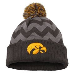 hot sale online f9a88 9a441 Iowa Hawkeyes Official NCAA One Size Ambient Cuffed Knit Two Tone Beanie Hat  by Top of