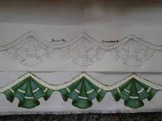 Resultado de imagem para pintura em barrados em tecidos