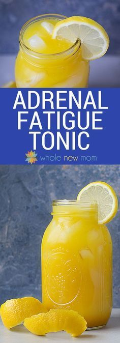 """How to Make Adrenal Fatigue Tonic Easily. This adrenal fatigue cocktail, modeled after the """"Singing Canary"""" drink, is loaded with ingredients to support your adrenals and overall health."""