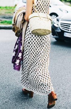 We're Calling It: Spring's Most Popular Bag Style via @WhoWhatWear - straw baskets