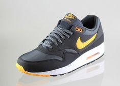 Nike Air Max 1 Essential Dark Grey / Laser Orange