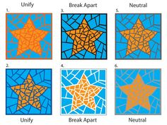 Grout choice stars jpeg Grout color can unify, break apart, or be neutral within your artwork. You must decide what you want it to do for you before you grout. Mosaic Crafts, Mosaic Projects, Mosaic Art, Mosaic Glass, Mosaic Tiles, Stained Glass, Glass Art, Gaudi Mosaic, Mosaic Mirrors