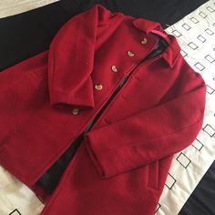 American Apparel Red Peacoat SZ Small American Apparel Red Peacoat SZ Small Never Worn American Apparel Jackets & Coats Pea Coats