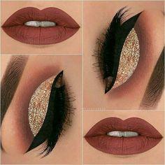 Glitter Eye Makeup, Kiss Makeup, Fall Makeup, Makeup Art, Beauty Makeup, Glitter Gif, Glitter Balloons, Makeup Lips, Glitter Heels