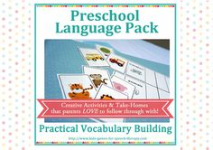 Preschool Speech Therapy Activities: Printable Materials for Teaching Vocabulary