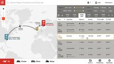 The Future of Airline Websites - Web Design and User Experience Case Study by Fi - Available Flights