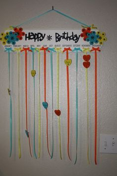 Birthday Board I Like The Ribbon Idea Chart ClassroomPreschool