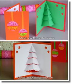 Noël - Capuchon à l'école Christmas Cards Handmade Kids, Pop Up Christmas Cards, Christmas Pops, Christmas Card Crafts, Homemade Christmas Cards, Pop Up Cards, Xmas Cards, Diy Cards, Kids Christmas